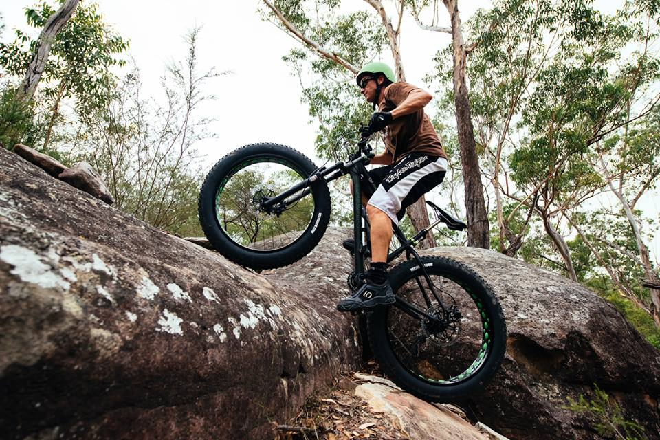 Diamant F3 Fatbike climbing rock. Jamie Pollock's riding a Diamant F3 Fat bike in Australia, how steep can you go mate!