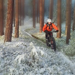 Diamant F4 fatbike Snow and Trees