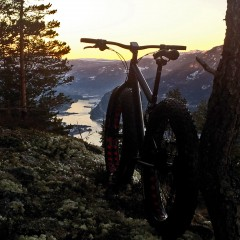 Diamant Fatbike sunset