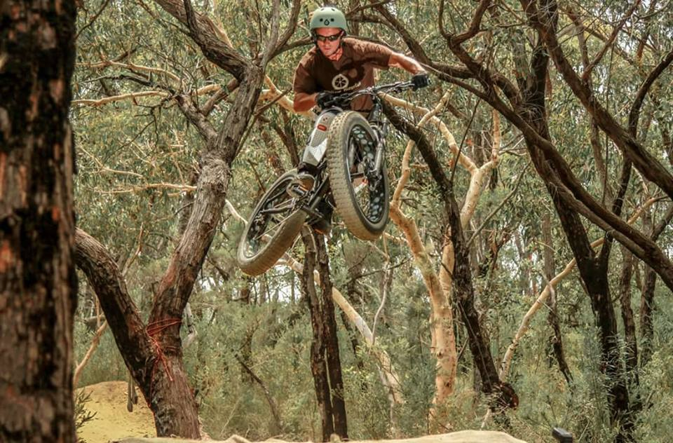 Diamant F3 Fatbike Going Large at Oxford Falls, Sydney Australia. Jamie Pollock's riding a Diamant F3 Fat bike with 100mm travel Rockshox Bluto fork. Hello airtraffic control permission for take off over!