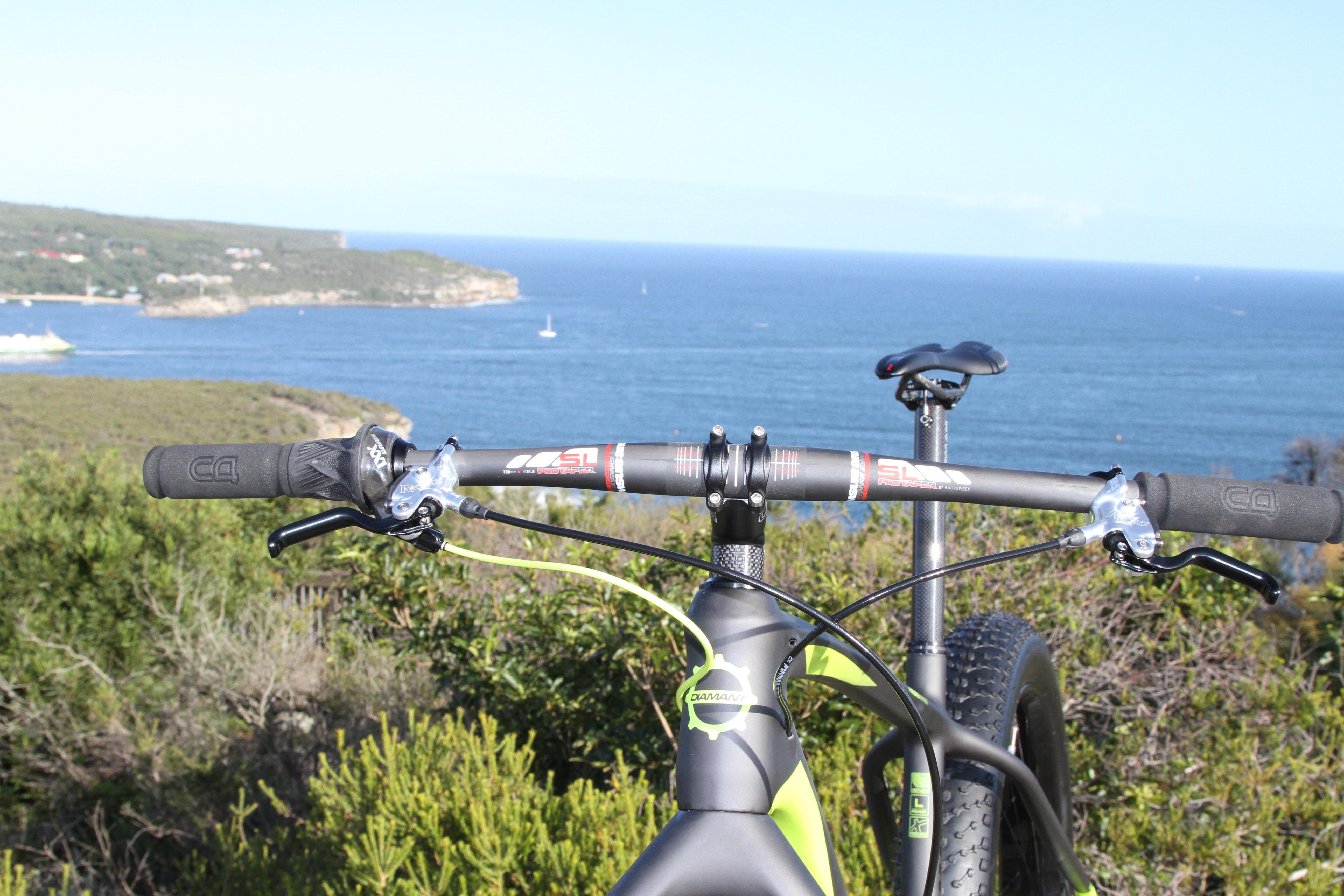 German Answer Carbon Pro Taper Bars - Diamant F1-LTD Fat bike